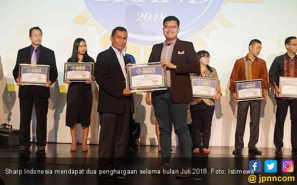 Sharp Indonesia Raih Penghargaan GDI dan Top Brand 2018 - JPNN.com