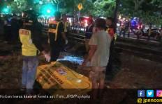 Kereta Api Tiba - Tiba Sambar Pria Gemuk tanpa Identitas - JPNN.com