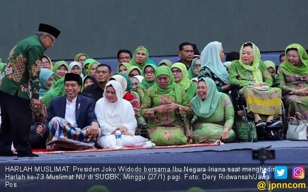 SUGBK Menghijau, Jokowi dan Nahdiyin Nyanyikan Ya Lal Wathan - JPNN.com