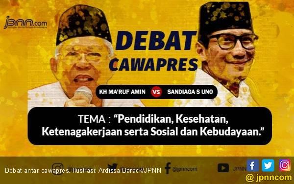 Debat Tetap Menarik Meski Ma'ruf dan Sandi Beda Generasi - JPNN.com