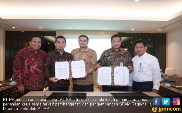 PT PP Infrastruktur Tandatangani Pembangunan & Pengembangan SPAM Regional Ir H. Djuanda - JPNN.com