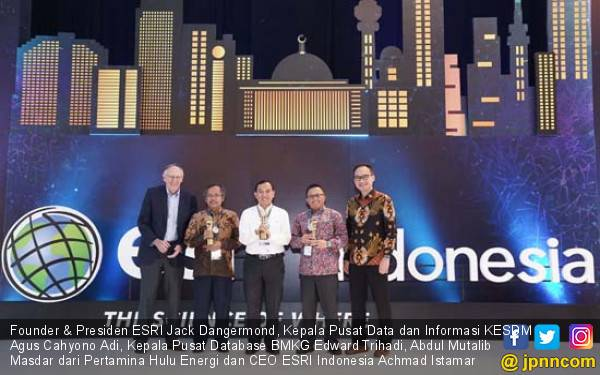Pemprov DKI Jakarta dan BMKG Raih Penghargaan Bidang Geospasial - JPNN.com