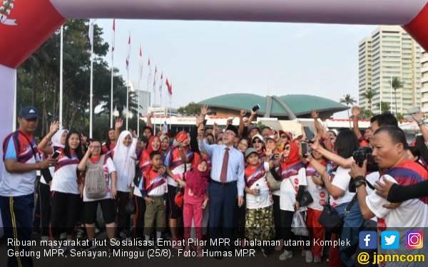 Sosialisasi 4 Pilar MPR Lewat Jalan Sehat, Tanamkan Nilai-nilai Kebangsaan - JPNN.com