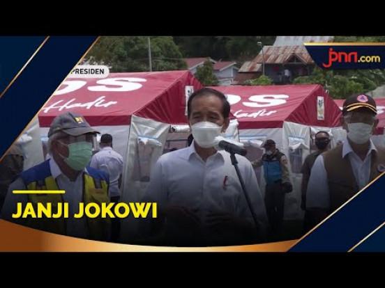 Janji Jokowi saat Tinjau Korban Gempa di Sulbar - JPNN.com
