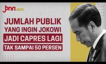 Jumlah Publik yang Ingin Jokowi Jadi Capres Lagi Tak Sampai 50 Persen