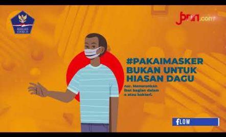 Ingat ya! Pakai Masker Bukan untuk Hiasan Dagu