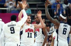 Timnas Basket AS Menang Telak Atas Finlandia - JPNN.com