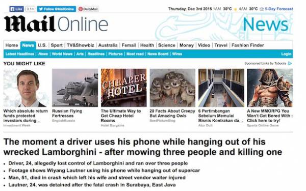 MEMALUKAN! Media Enam Negara Beritakan Kasus Lamborghini Maut! - JPNN.com