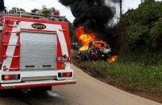 Bensin 650 Liter Terbakar, Pikap Gosong, Nih Fotonya... - JPNN.com