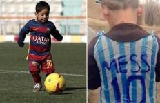Messi Kantong Kresek Akhirnya Punya Kostum Barcelona - JPNN.com