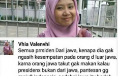 Akun Perempuan Berjilbab Vhia Valenvhi yang Menghina Jawa Palsu? - JPNN.com