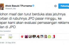 JPO Pasar Minggu Roboh, Ahok Minta Maaf di Twitter - JPNN.com