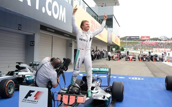Rosberg Raja di Suzuka, Mercedes Juara Konstruktor - JPNN.com