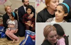 Terharu..Lindsay Lohan Kunjungi Pengungsi Suriah di Turki - JPNN.com