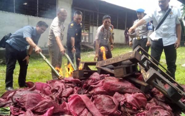 Karantina Pekanbaru Musnahkan Lima Ton Bawang Merah Ilegal - JPNN.com