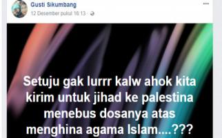 Status FB Bu Dokter: Setuju Kirim Ahok Jihad ke Palestina? - JPNN.com