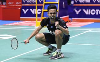 Jatuh Bangun Kalahkan Petahana, Ginting Tembus Final Singapore Open 2019 - JPNN.com