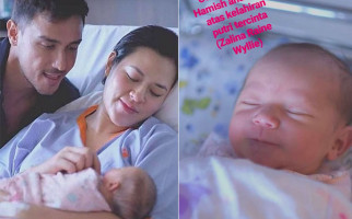Hamish Unggah Foto Perdana dengan Baby Zalina - JPNN.com