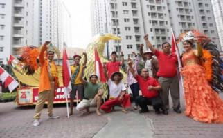 Pawai HUT ke-74 RI ala Inner City Management Meriah Banget - JPNN.com