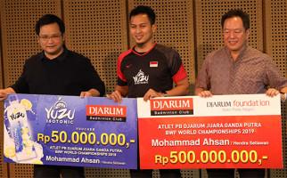 Mohammad Ahsan Diguyur Bonus, Rp 500 Juta dari Djarum, 50 Juta dari Yuzu - JPNN.com