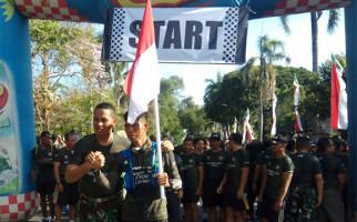 Sambut HUT TNI, Serka Dewa Lari 374 Km Selama 5 Hari - JPNN.com