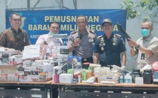 Bea Cukai Surakarta Musnahkan Barang Ilegal Senilai Rp1,3 Miliar - JPNN.com