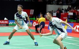 Peduli Keselamatan Lawan, FajRi Lolos ke Semifinal Indonesia Masters 2020 - JPNN.com