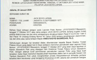 Jack Lapian Cabut Laporan Polisi Kepada Anies Baswedan Soal Istilah Pribumi - JPNN.com