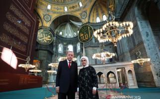 Jemaah Salat Jumat di Hagia Sophia Berterima Kasih kepada Presiden Erdogan - JPNN.com