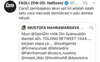 Akun Twitter Deklarator KAMI Din Syamsuddin Dibajak, Fadli Zon Bereaksi - JPNN.com