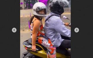 Lihat Posisi Tangan Mikhayla Saat Dibonceng Sepeda Motor, Ardi Bakrie Salut - JPNN.com