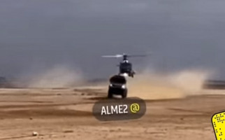 Truk Reli Dakar Senggol Helikopter Terbang Terlalu Rendah, Nih Penampakannya - JPNN.com