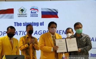 Golkar Teken Kerja Sama dengan Partai Vladimir Putin, Airlangga Ajak Rusia Tingkatkan Investasi di Indonesia - JPNN.com
