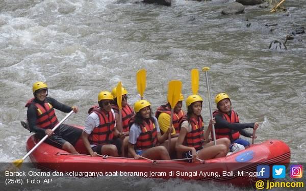 Byur… Dayungan Obama Membuat Sungai Ayung Makin Mendunia - JPNN.com