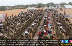 Pasukan TNI Gelar Salat Idulfitri di Sudan - JPNN.com