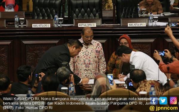 DPD RI dan Kadin Bekerja Sama untuk Mengembangkan Ekonomi Daerah - JPNN.com
