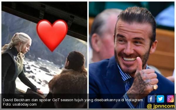 David Beckham pun Jadi Orang Biasa di Hadapan Bintang GoT - JPNN.com