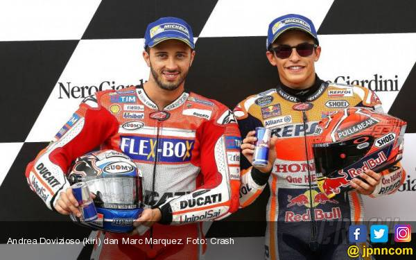 Tinggal Dua! Marc Marquez 269, Andrea Dovizioso 236 - JPNN.com