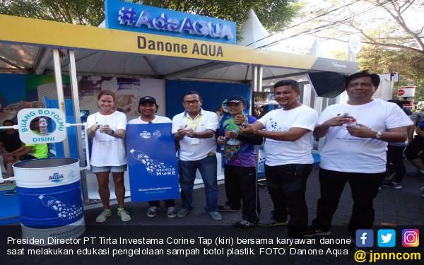 Danone Aqua Kampanyekan Daur Ulang Sampah Botol Plastik di Bali Marathon 2017 - JPNN.com