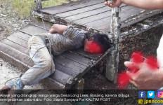 Pengedar Narkoba Digebuki Warga, Kaki Tangan Diikat, tuh Fotonya - JPNN.com