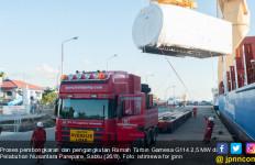 Rumah Turbin Berkapasitas 2,5 MW Pertama di Indonesia Tiba di Pelabuhan Parepare - JPNN.com