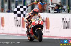 Supertegang! Marquez Juara MotoGP Australia, Rossi Kedua - JPNN.com