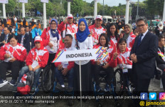Defile Indonesia Dipimpin Anto Boy - JPNN.com