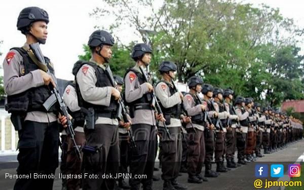 Perkuat Pengamanan Pasca-Pemilu, 100 Personel Brimob Masuk Ibu Kota - JPNN.com