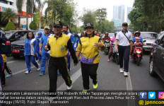 Kasarmatim Ikut Merayakan HUT Jawa Timur dengan Jalan Sehat - JPNN.com