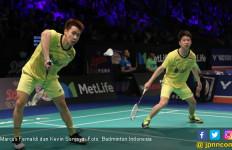 Menang di Derby Indonesia, Marcus/Kevin Catat Rekor Hebat - JPNN.com