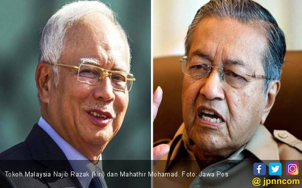 Suram, Najib Ogah Ucapkan Selamat kepada Mahathir - JPNN.com