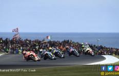 Gilanya MotoGP Australia, Baju Rossi Sobek Kena Ban Marquez - JPNN.com