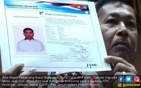 Rilis Wajah Penyerang Novel Baswedan, Polisi Yakin 90 Persen - JPNN.com