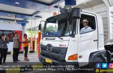 Jokowi Naik Truk Jajal Tol Pertama di Lampung, Nih Fotonya - JPNN.com